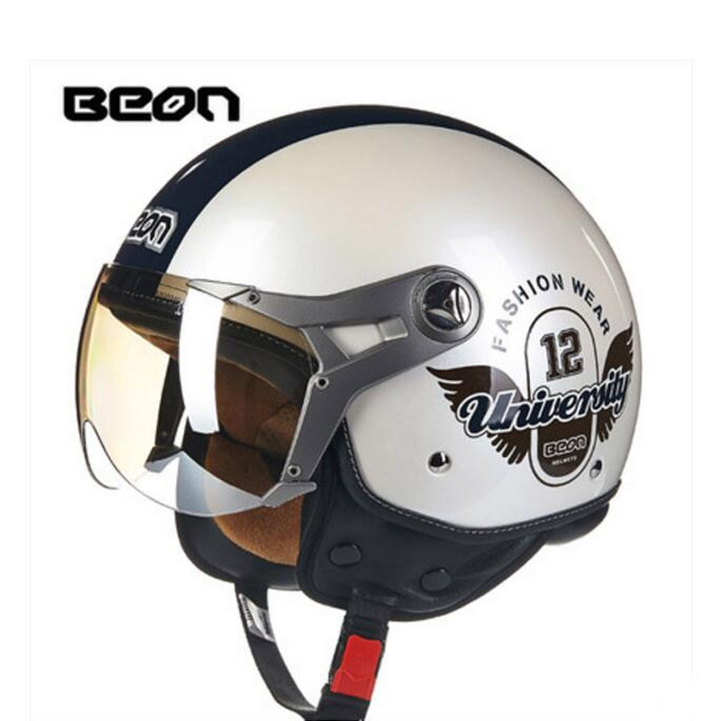 2017 Autumn winter EU ECE Authentication Netherlands BEON Half Face Motorcycle Helmet ABS Retro Motorbike helmets Size M L XL