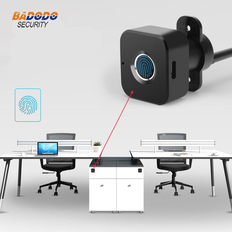 Smart keyless Fingerprint cabinet Lock biometric electric lock for office drawer file cabinetElectric Lock   -
