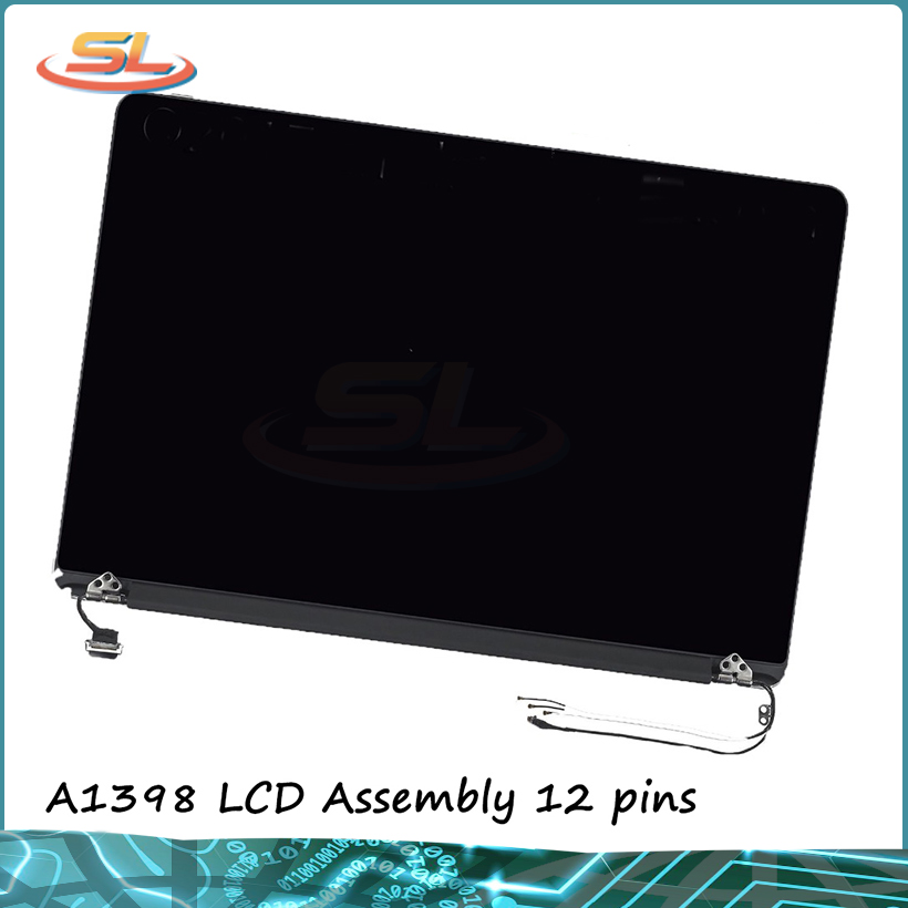 Original New A1398 LCD Assembly for MacBook Pro Retina 15 full LCD Panel 2013-2014 year 12pins LCD AssemblyOriginal New A1398 LCD Assembly for MacBook Pro Retina 15 full LCD Panel 2013-2014 year 12pins LCD Assembly