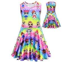hot deal buy lol dolls baby dresses summer cute elegant dress kids party christmas costumes children clothes princess lol girls dress 8726