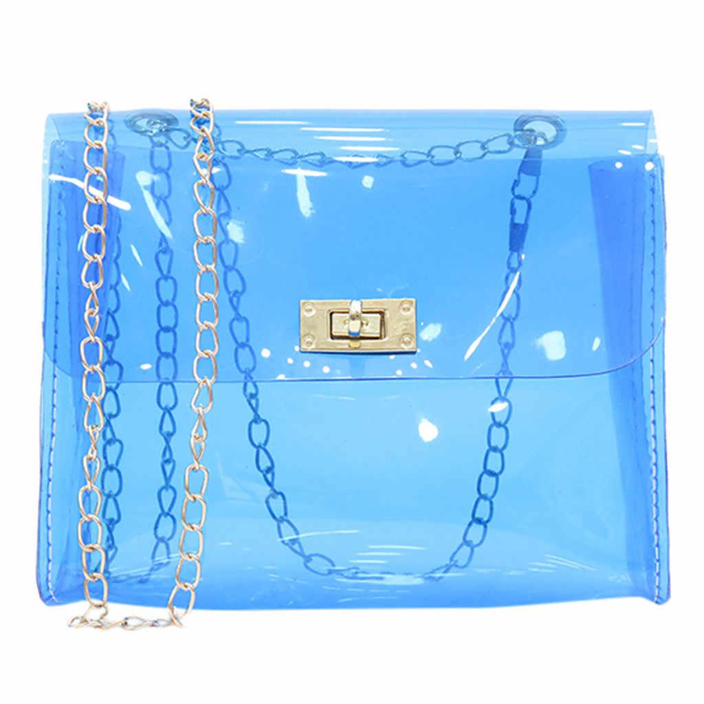 女性のファッション透明なショルダーバッグゼリーメッセンジャーバッグ無地ハンドバッグショルダークロスボディバッグ Famale ハンドバッグ Mujer