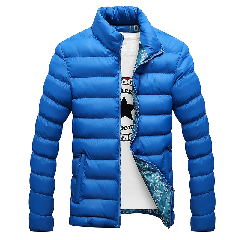 Winter Jacket Men 2019 New Cotton Padded Thick Jackets   Parka   Slim Fit Long Sleeve Quilted Outerwear Clothing