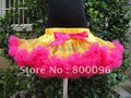 2015 Girls Skirt Yellow Rose Red Tutu for Girls of Baby Summer Tutu PETS-057
