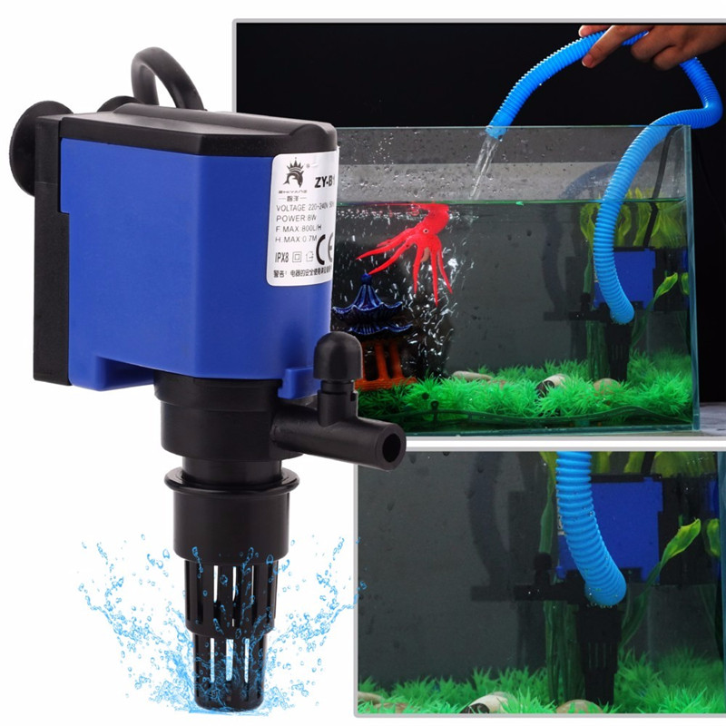 3-in-1 Aquarium Aquarium Filter Luftpumpe Wasser Zirkuliert Wasser Spray Teich Tauch Wasserfilter Filter Rohr 8/15/20/25/35 W