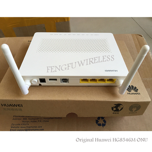 Free Shipping Best Price Original HG8546M GPON ONU ONT with 1GE+3FE+wifi English version,EU adapter with SC/UPC-SC/APC patchcord(China)