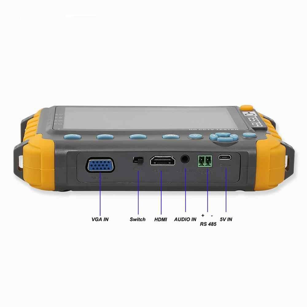 5 дюймов 5MP CCTV Тесты er TVI CVI CVBS аналоговый AHD Тесты er монитор Тесты er Поддержка VGA HDMI Вход кабель Тесты безопасности Камера Тесты er