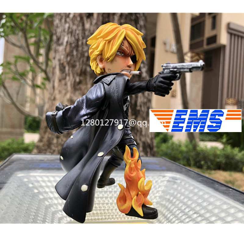 Statue ONE PIECE Vinsmoke Sanji Nick Fury Full-Length Portrait Straw Hat Pirates Bust GK Action Figure Collectible Toy P1034