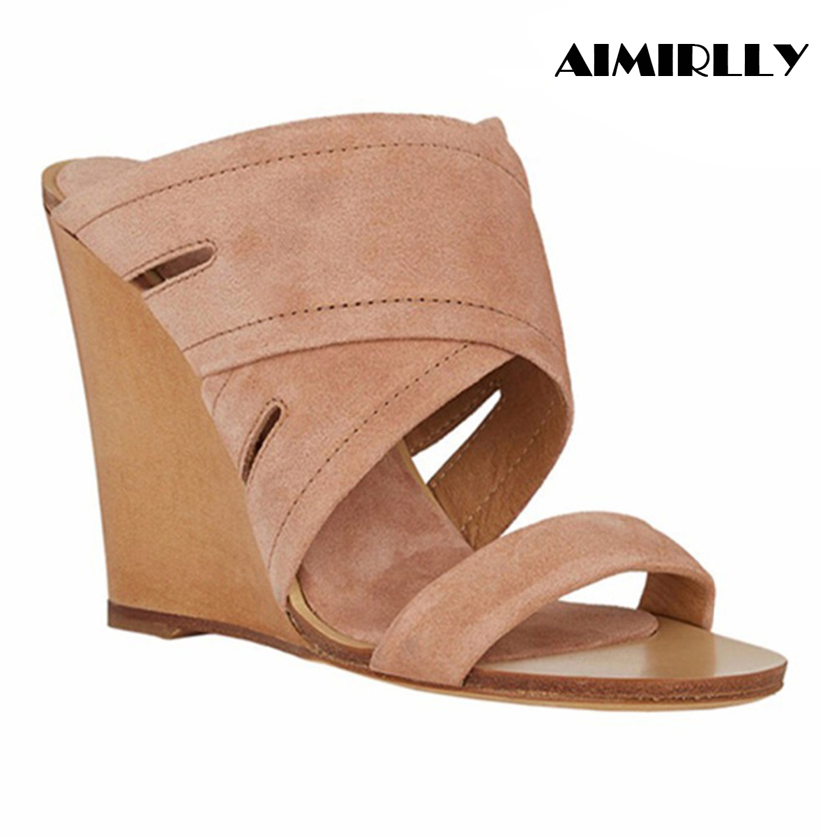 Summer Shoes Slippers Sandals Wedge-Heel Comfortable Us-Size Wholesale Women on Mules