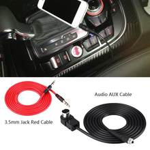 3.5mm Jack Red Cable Connection Line Car AUX Cable Adapter for JVC Alpine CD KS-U58 PD100 U57 for iPhone 5 6 6S(China)