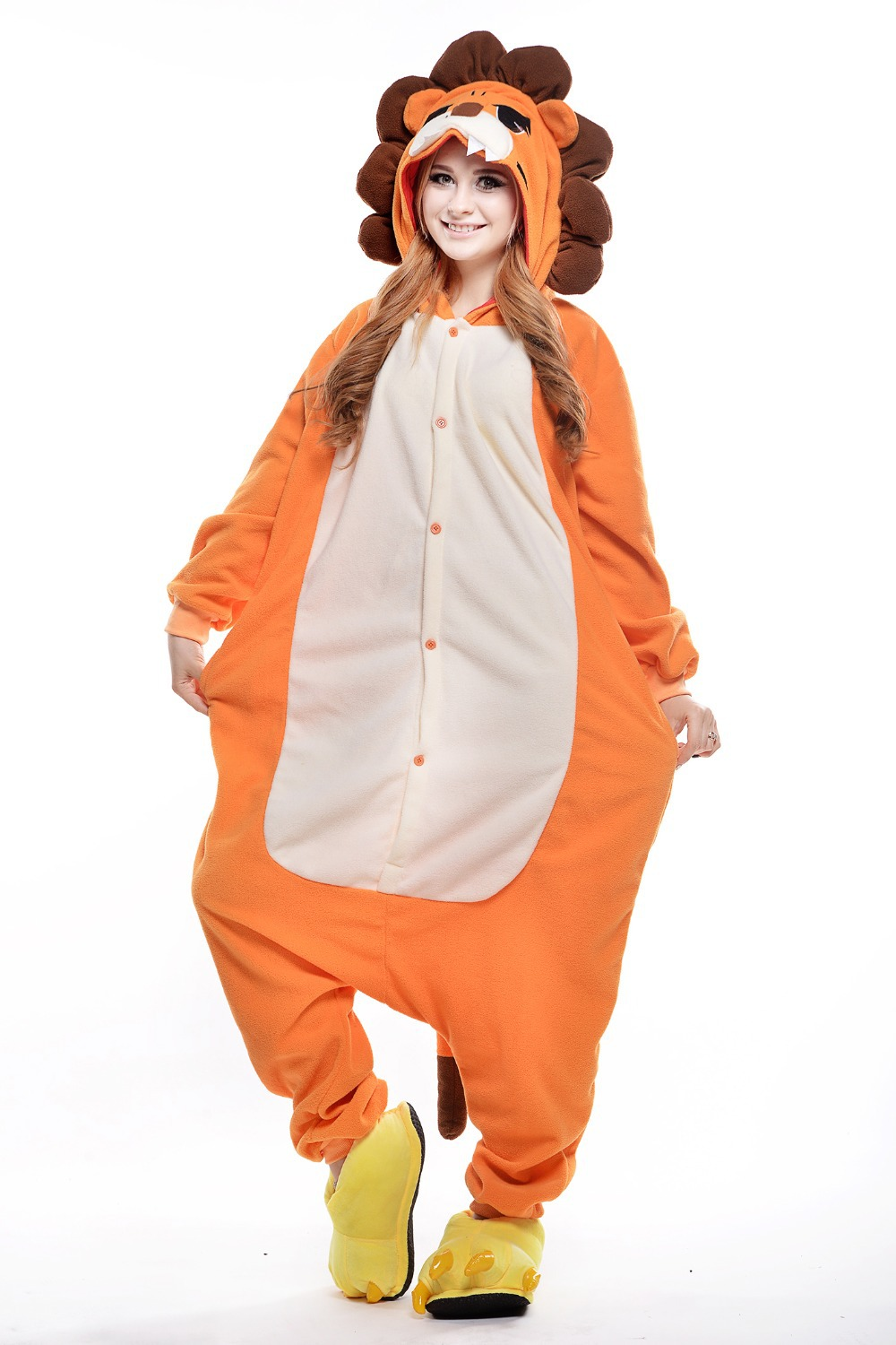 lion costume plus size halloween costume for women mens onesie fancy anime cosplay adult animal footed pajamas in mascot from novelty special use on