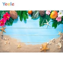 Yeele Photozone עלים טרופיים חוף מעטפת קיץ צילום רקע צילום מותאם אישית תפאורות צילום סטודיו