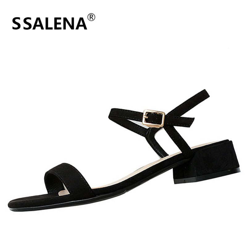 Women Ankle Strap Low Heel Pumps Ladies Elegant Square Heel Ankle Strap Sandals Female Summer Party Dress Open Toe Shoes AA51649