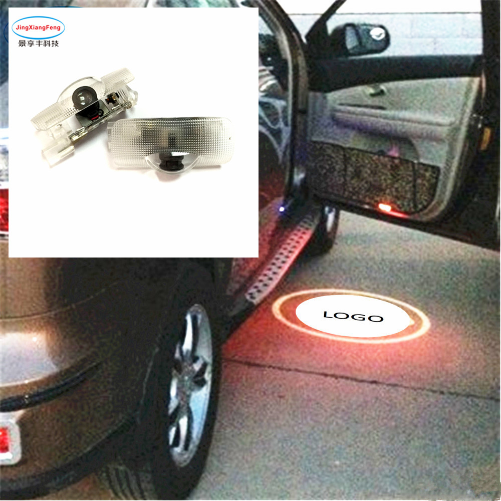 2 pcs levou logo luz porta Para Toyota Camry 2006-2012 2018 Novo Toyota Logotipo Do Laser Para Subaru lexus acessórios do carro styling