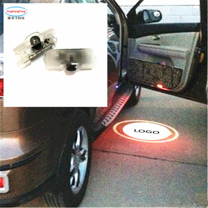 2pcs led door logo light For Toyota Camry 2006-2012 New 2018 Toyota Logo Laser For Subaru For Lexus car accessories styling(China)