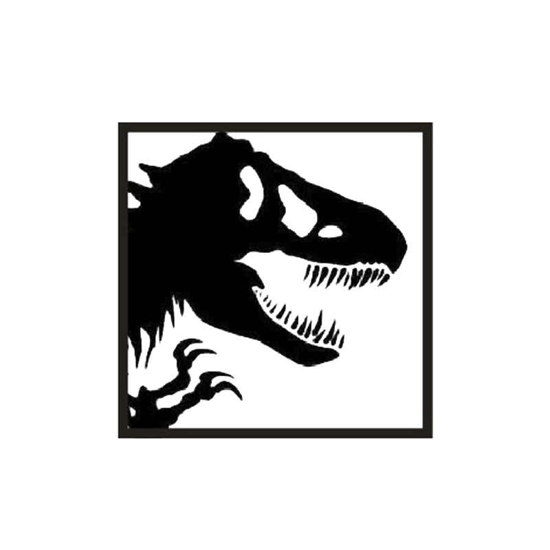 1 pcs O Crânio de Dinossauro de Brinquedo Auto Tinta do Carimbo de borracha DIY Scrapbooking Selos Selo Fotossensível Sem Alça Engraçado Planejador