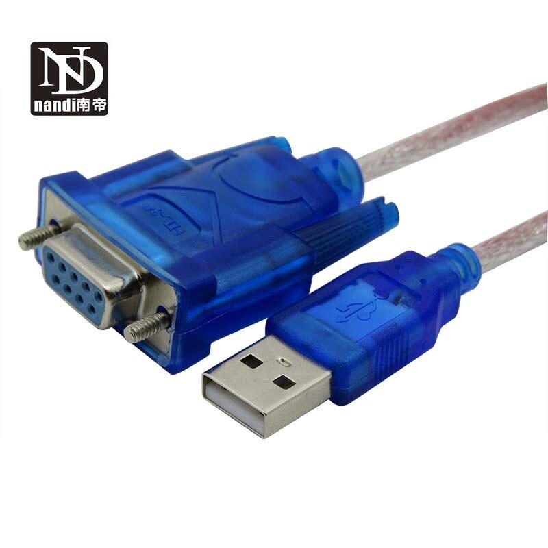 Usb rs232 adaptador Usb para cabo serial Rs232 DB9 interruptor de porta fêmea USB para Serial cabo serial fêmea USB para COM