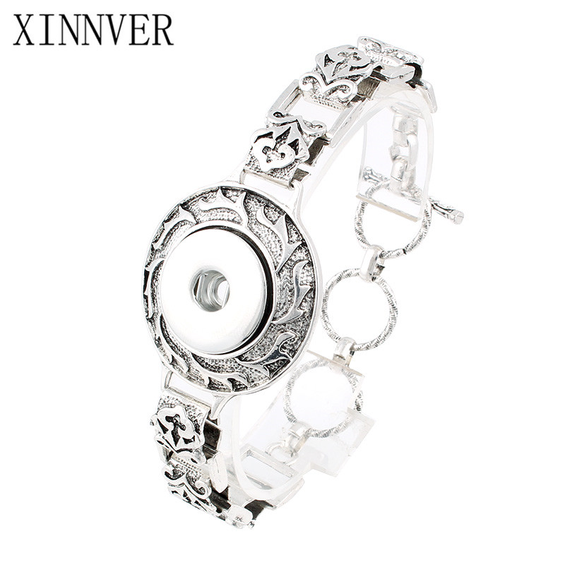 Hot Sale Metal Snap Bracelet Adjustable Jewelry For 18