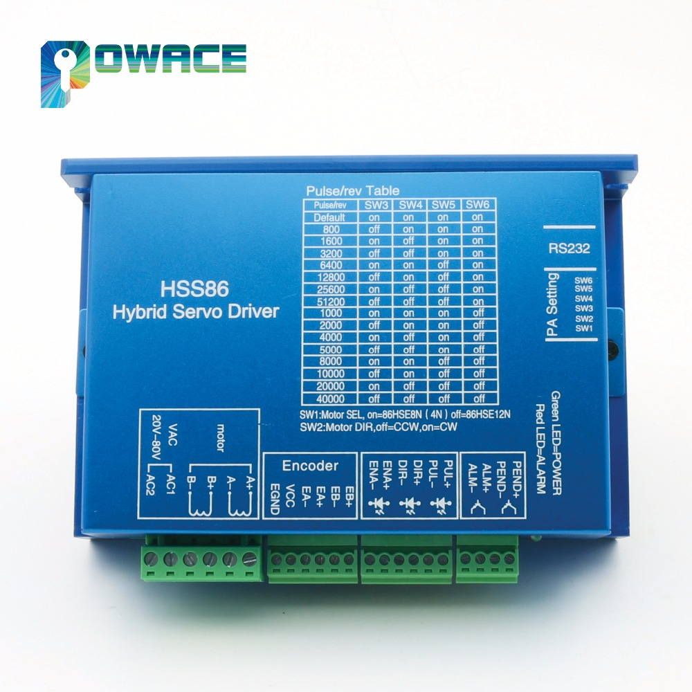 [RU Delivery/Free VAT] Nema34 8N.m 116mm Closed-Loop Servo Motor 6A+2HSS86H Hybrid Driver Controller 8A for CNC Router