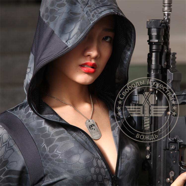 Kryptek typhon camo dámská mikina, lov rychlá suchá dívka, taktická dívčí mikina