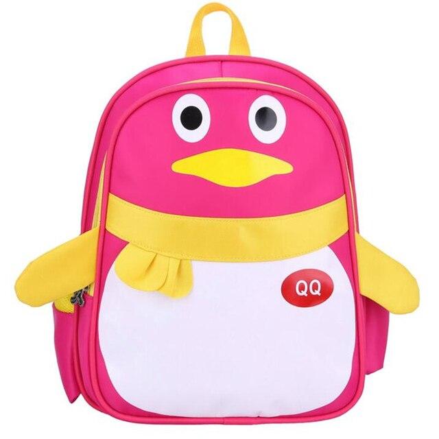 2017 New 2-6 Years Old Kindergarten Cartoon Penguin Schoolbag Nylon Cute Boys Girls Backpack Brand Baby Animals Backpacks B330