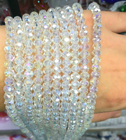 5040 AAA Top Quality Crystal AB Color Loose Crystal Glass Rondelle Beads 2mm 3mm 4mm 6mm