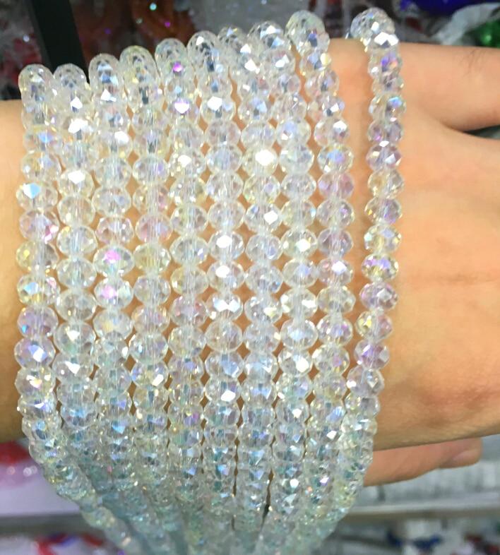 5040 AAA Top Quality Crystal Clear AB Colore Allentato Branelli Di Cristallo di Rondelle beads.2mm 3mm 4mm, 6mm, 8mm 10mm, 12mm Spedizione Gratuita!