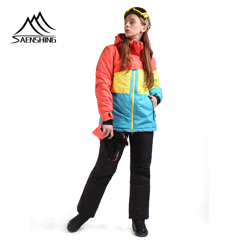 SAENSHING Women Ski Suit Winter Skiing Suits Waterproof Thermal Ski Jacket  for Women Snowboarding Suits Breathable c5c3ee1a8
