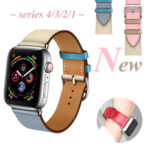 цена на OSRUI Leather strap for apple watch band correa 42mm 44mm 40mm 38mm wrist bracelet belt iwatch band series 4 3 2 1 Accessories