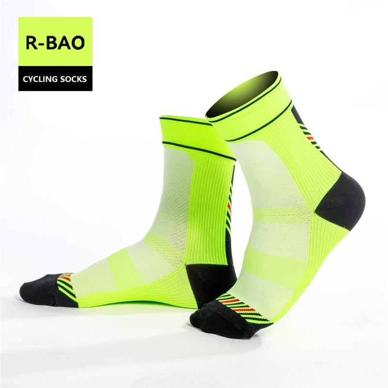Prix pour RB7801 R-Bao Hommes/Femmes Vélo Chaussettes de Haute Qualité couleurs assorties Sport Chaussettes À Séchage Rapide Chaussettes De Vélo