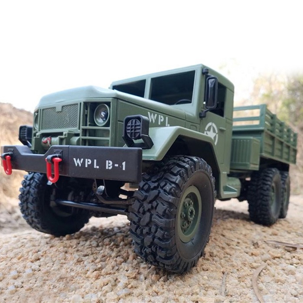 WPL RC Car 1/16 2.4G 6WD RC Crawler Off Road Car 1:16 Mini Off-Road RC Military Truck RTR Four-Wheel Drive Boy Toys Kids Gift цена