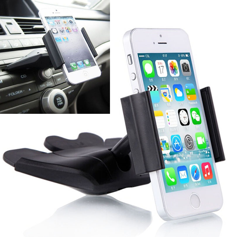 car cd player slot mount cradle gps tablet phone holder stands for