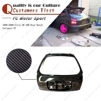 Araba Aksesuarları Karbon Fiber Arka Hatch Bagaj Kapağı Için Fit 1996-2000 Civic EK 3DR Arka Kapak Bagaj Kapağı