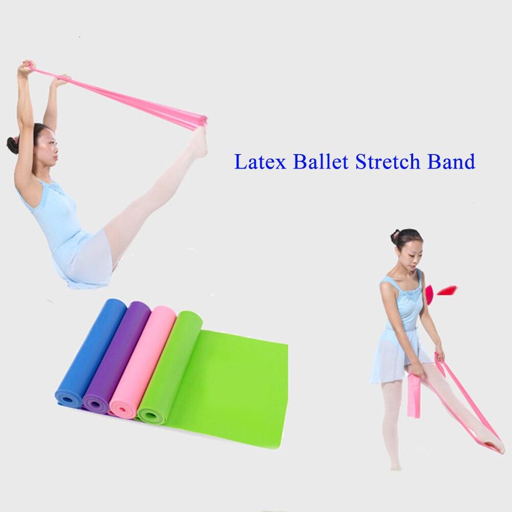 2017 Latex Elastische Ballet Stretch Band Voet Stretch Band Gym Yoga Pilates Dance Accessoires Voor Volwassen Kinderen Helder En Doorschijnend Qua Uiterlijk