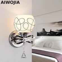 Modern Crystal Glass Wall Lamp Novelty White/Black Foyer Light Loft Free Shipping  Lights