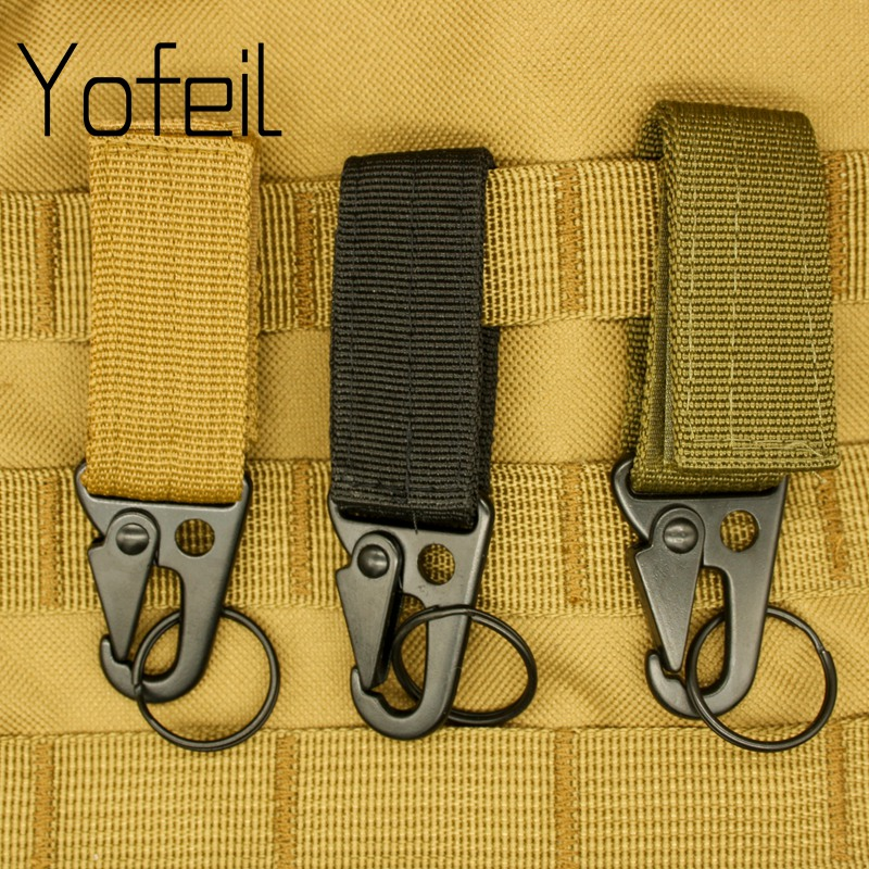 1PC Carabiner High Strength Nylon Key Hook MOLLE Webbing Buckle Hanging System Belt Buckle Hanging Camping Hiking Accessories