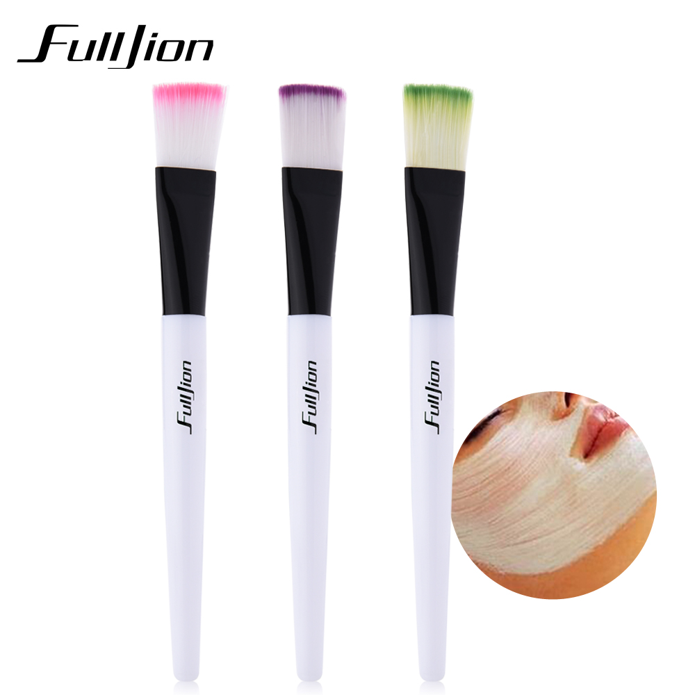 Fulljion Makeup Mask Brush Wooden Handle Facial Face Mask Skin Care For Women Beauty Make Up Foundation Brush Tools addfavor acrylic handle beauty cosmetic face clean mask brushes eyes skin care make up tools soft makeup synthetic hair brush