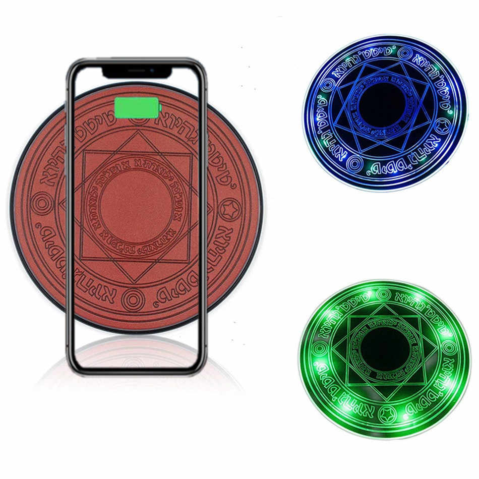 Universal Magic Circle Wireless Charger Qi Wireless Fast CHARGING Pad สำหรับ iPhone X 8 7 6 Samsung S7 S8 huawei Xiaomi Redmi