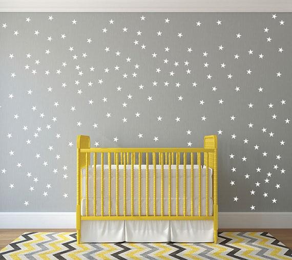 Gold stars wall decal vinyl stickers golden Star Kids Rooms Wall Art ...