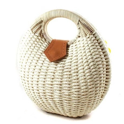 2017 new fashion rattan handbag straw beach bags lovely ladies bags baskets leisure bags free shipping