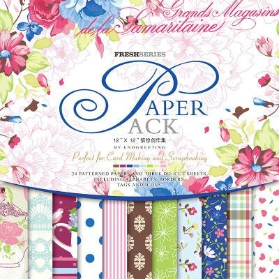 Eno Greeting 12 Inch Elegant Retro Paper Pack Diy Creative Scrapbook