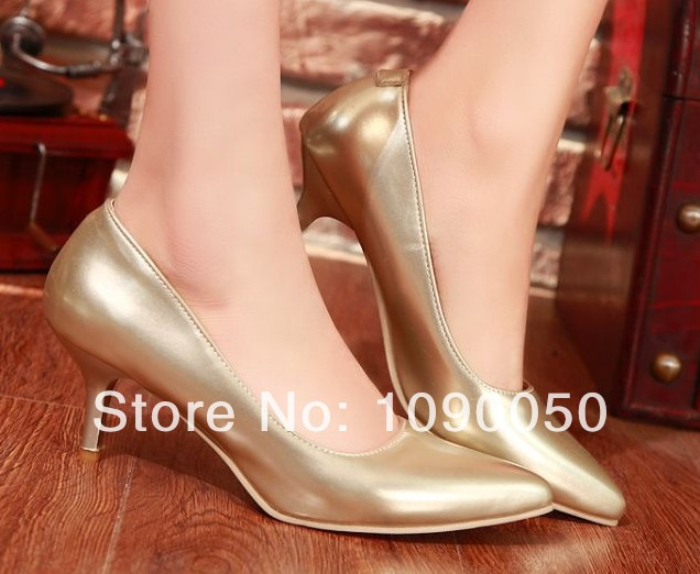 zapatos mujer spring and autumn pointed toe sexy high-heeled shoes thin heels single gold wedding pumps plus size:34 35-41 42 43 2017 new spring summer shoes for women high heeled wedding pointed toe fashion women s pumps ladies zapatos mujer high heels 9cm