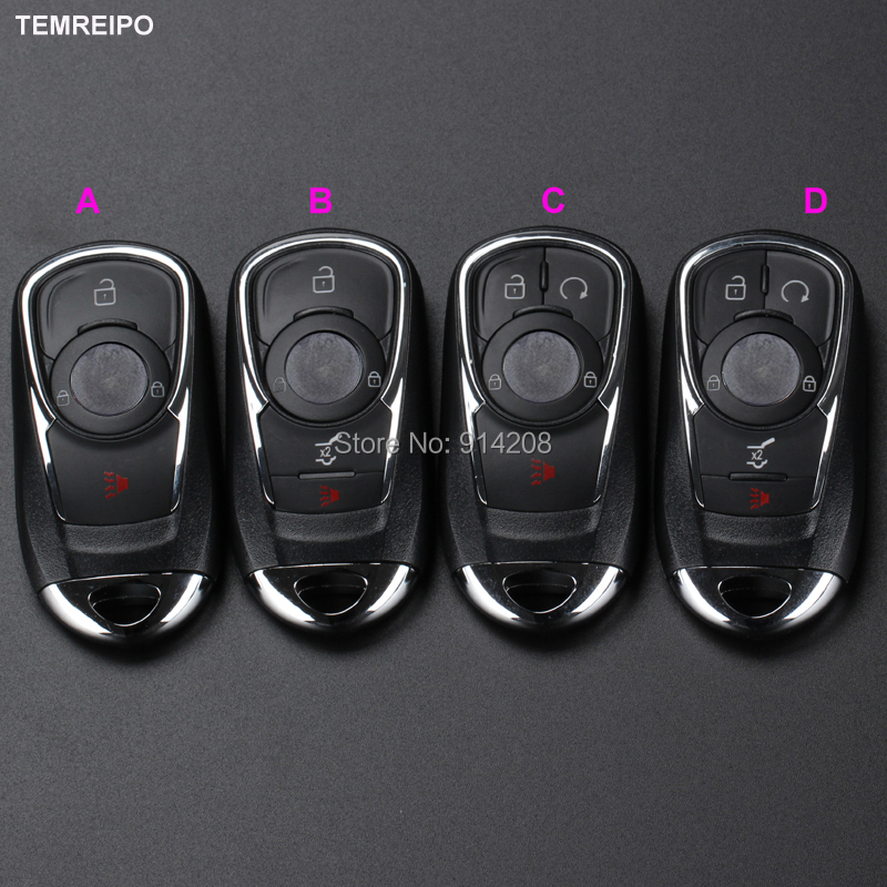 TEMREIPO Replacement Smart <font><b>Key</b></font> Card Case Cover For GMC Buick Car Remote <font><b>Key</b></font> Shell Entry System No Chip Fob