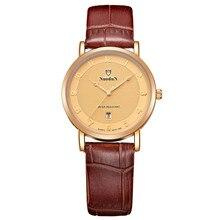 Nuodun Модные Часы Для Женщин Роскошные Известная Марка Relogios Feminino Кварцевые Часы-Часы Водонепроницаемые Оригинальной Horloge Дам