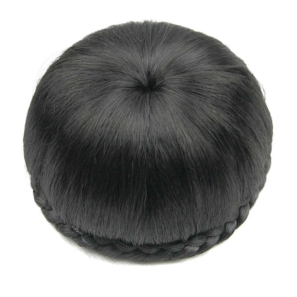 Soowee черные светлые синтетические волосы клип в волосы плетеный шиньон валик-бублик Пряди Волос Булочка Аксессуары для женщин