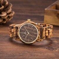 UWOOD W3007 Wood Watch Men Quartz Bamboo Zebra Wooden Watches Luxury Watch Men Brand Bracelet Wedding