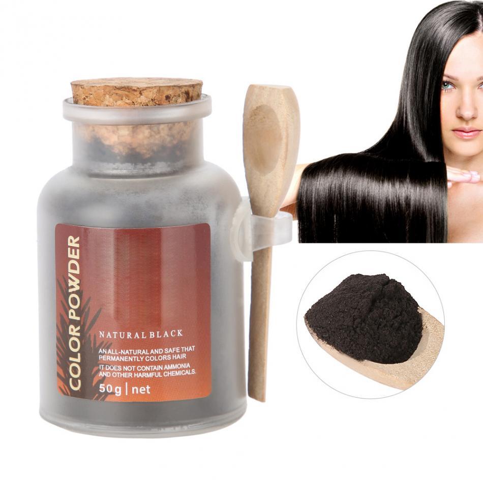 50ml Pure Natural Herbal Ingredients Hair Coloring Powder Long