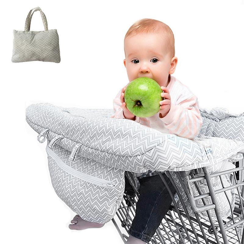 Fold-able Baby Shopping Cart Baby Seat With Protection Cover