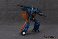 [Show.Z Store]YM 06 Cone heads Dirge(Blue) Yes Model Transformation Masterpiece MP11ND Dirge Conehead Seeker With Metal Parts