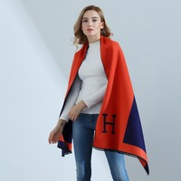 Hot Sale Fashion H Letter Spring Autumn Womens Scarves Pareo Wraps Soft Scarf Blankets Shawls Warm