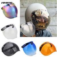 Motorcycle Helmet Shield Mirror Lens Flip UP Down Visor Face Lens Base Safety
